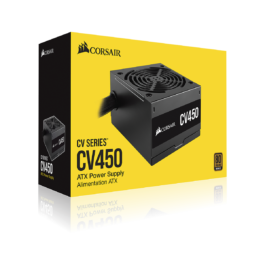 CORSAIR CV450 — 450 Watt 80 Plus Bronze Certified PSU